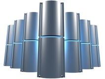 niebieski serwer z gospodarstw rolnych Zdjęcie Royalty Free