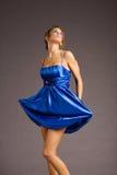niebieski smokingowa kobieta Fotografia Royalty Free