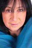 niebieski smokingowa kobieta Obraz Stock