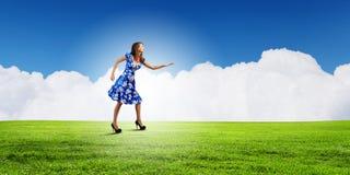 niebieski smokingowa kobieta Obrazy Royalty Free