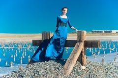 niebieski smokingowa kobieta Zdjęcie Royalty Free