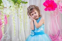 niebieski smokingowa mała dziewczynka Fotografia Royalty Free