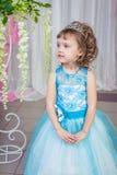 niebieski smokingowa mała dziewczynka Obrazy Royalty Free