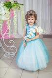 niebieski smokingowa mała dziewczynka Zdjęcia Royalty Free