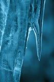 niebieski sopel lodu fotografia stock