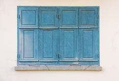 niebieski stary okno Fotografia Royalty Free