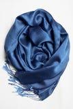 niebieski szalik fotografia stock