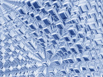 niebieski sześcianu srebra Zdjęcia Royalty Free