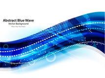 niebieski tła abstrakcyjna fale Fotografia Royalty Free
