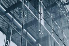 niebieski tła architekturę kompasowy głębokie rysunek Szklany fasadowy system Zdjęcie Stock
