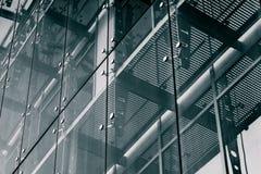 niebieski tła architekturę kompasowy głębokie rysunek Szklany fasadowy system Zdjęcia Royalty Free