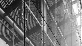 niebieski tła architekturę kompasowy głębokie rysunek Szklany fasadowy system Fotografia Stock