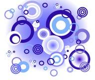 niebieski tła okręgów Zdjęcia Royalty Free