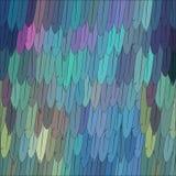niebieski tła piórko Abstrakcjonistyczny dynamiczny skład Wektor piórkowa ilustracja Obrazy Royalty Free