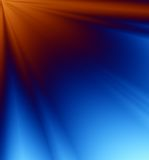 niebieski tła - pomarańczowe promienie światła Obraz Royalty Free