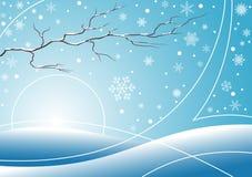 niebieski tła zimy. royalty ilustracja
