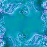 niebieski tła abstrakcyjna rama Obrazy Royalty Free