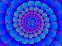 niebieski tła abstrakcyjna spirali Obraz Royalty Free