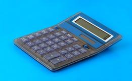 niebieski tła kalkulator Obrazy Royalty Free