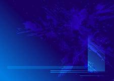niebieski tła przestrzeni Fotografia Stock