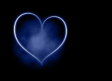 niebieski tła serce Ilustracji