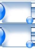 niebieski tła szablon Obrazy Royalty Free