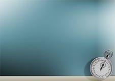niebieski tła zegar Obrazy Stock