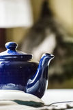 niebieski teapot Fotografia Stock