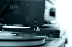 niebieski ton ' fonograf ' Fotografia Stock