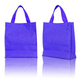 niebieski torby na zakupy Fotografia Stock