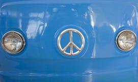 niebieski van retro zdjęcia stock