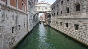 niebieski Włoch most światło wzdycha Venice widok Obraz Stock