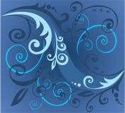 niebieski wegetacyjny wzoru Obrazy Royalty Free
