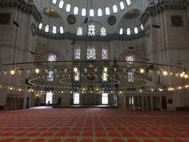 niebieski wewnętrznego meczetu niebieski Istanbul meczetu Błękitny meczet w Sultanahmet parku Duży meczet w Istanbuł, Turcja Zdjęcie Royalty Free