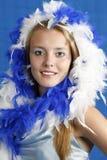 niebieski white zdjęcia stock