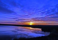 niebieski wschód słońca Obraz Royalty Free