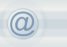 niebieski znak Fotografia Royalty Free