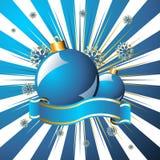 niebieskie świąt nad gwiaździstym Fotografia Royalty Free