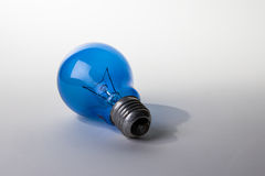 niebieskie światła żarówki Zdjęcia Royalty Free