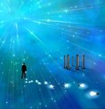 niebieskie światło ilustracja wektor