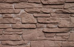 niebieskie światło sztuczne kamienna ściana Obraz Stock