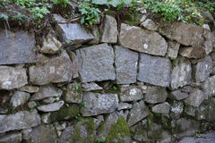 niebieskie światło sztuczne kamienna ściana Zdjęcie Stock