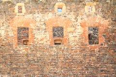 niebieskie światło sztuczne kamienna ściana Zdjęcia Stock