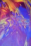 niebieskie abstrakcyjnych farb purpurowy Fotografia Royalty Free