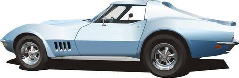 niebieskie auto pale sporty. Zdjęcie Royalty Free