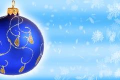 niebieskie bal Świąt Fotografia Stock