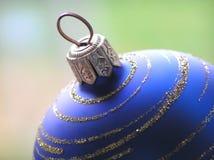 niebieskie bal Świąt Zdjęcie Stock