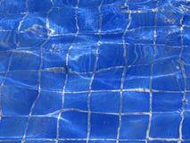 niebieskie basen kafli. Fotografia Stock