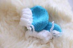 niebieskie buciki dziecka fotografia stock