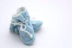 niebieskie buciki dziecka Zdjęcie Stock